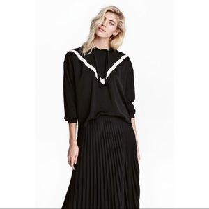 H&M Hooded Black Blouse BNWT